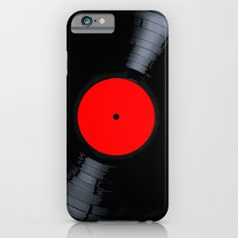 Blank Red Record Label iPhone Case