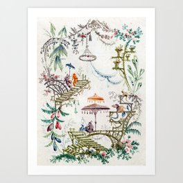 Enchanted Forest Chinoiserie Art Print