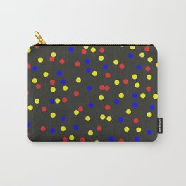 Primary Scatter - Abstract red, yellow and blue polka dots Carry-All Pouch