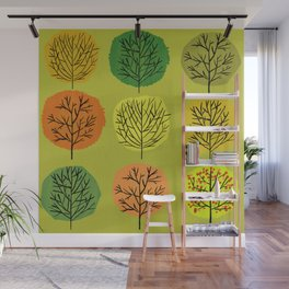 Tidy Trees All In Pretty Rows Wall Mural