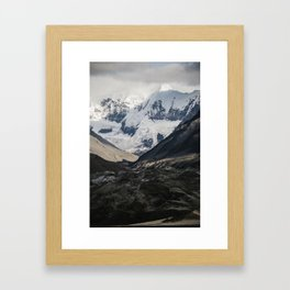 Glacial View South East AK Framed Art Print
