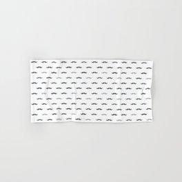 Grey Mustache Hand & Bath Towel