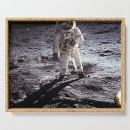 Apollo 11 - Iconic Buzz Aldrin On The Moon Serving Tray