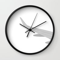 airplane Wall Clocks featuring Airplane by ONEDAY+GRAPHIC