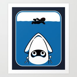 The Great White Blooper Art Print