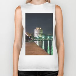 White Tower of Thessaloniki Biker Tank