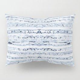 Boho Stripes Indigo Blue Pillow Sham