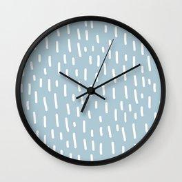 Geo Rainfall - soft teal Wall Clock