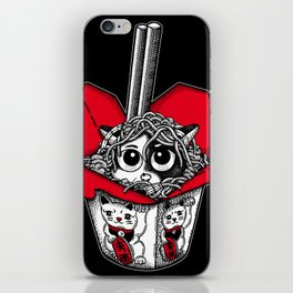 Lucky Cat Noodle Box iPhone Skin