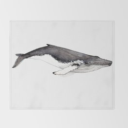 Humpback whale for whale lovers Throw Blanket