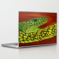 snake Laptop & iPad Skins featuring Snake by maggs326