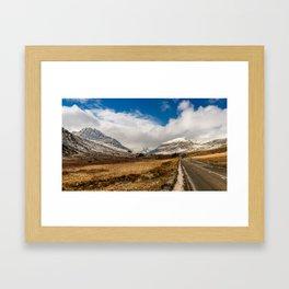 Mountain Highway Snowdonia Framed Art Print