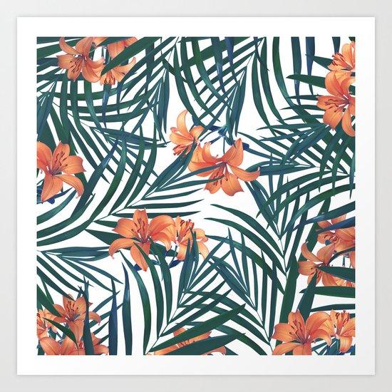 Tropical Lilies Art Print