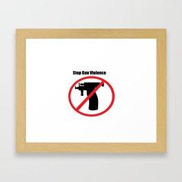 Stop Gun Violence  Framed Art Print