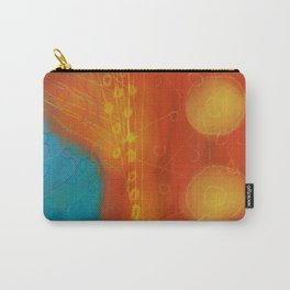 Funky Abstract Digital Painting Carry-All Pouch