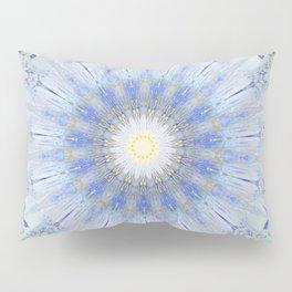 Crystal Blue Decorative Mandala Pillow Sham