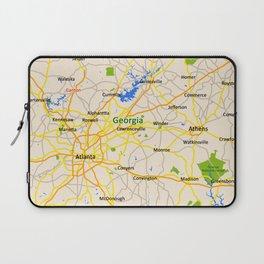 Georgia Map Design - USA map Laptop Sleeve