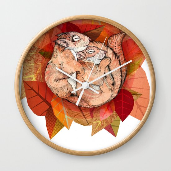 Squirrel Spoon Wall Clock