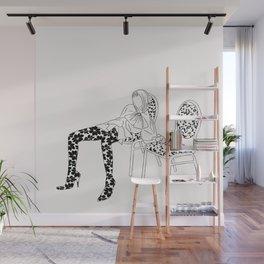 Figure sitting illustration Wall Mural
