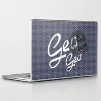 geo Laptop & iPad Skins featuring GEO  by NENE W