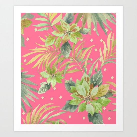 tropical summer warm Art Print