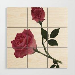 Mystical Maroon Rose Wood Wall Art