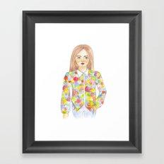The colourful shirt Framed Art Print