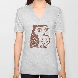 Brown Owl Unisex V-Neck
