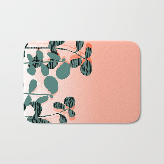 Later Days - indoor house plant ombre pink palm springs desert socal los angeles urban hipster retro Bath Mat