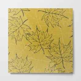 Leaf gold pattern Metal Print
