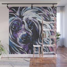 fun CHINESE CRESTED bright colorful Pop Art painting by Lea Wall Mural