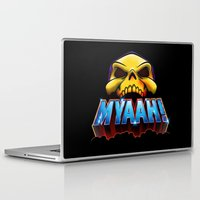 skeletor Laptop & iPad Skins featuring MYAAH! by Aaron Synaptyx Fimister