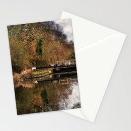 Above Sulhamstead Lock On The K&A Stationery Cards