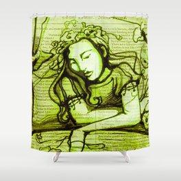 Romantic Ophelia Shower Curtain