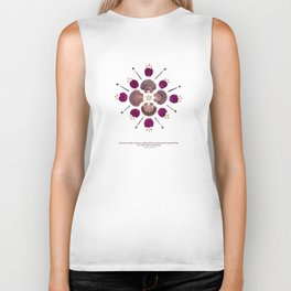 nature mandala... pine cone seeds, mexican scallop shells, pressed purple bougainvillea... Biker Tank