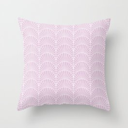 Art Deco Lavender Fields by Friztin Throw Pillow