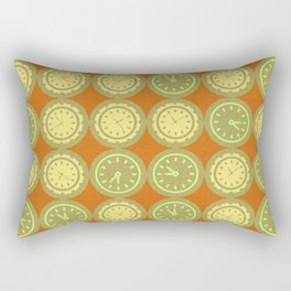 Round clocks pattern Rectangular Pillow