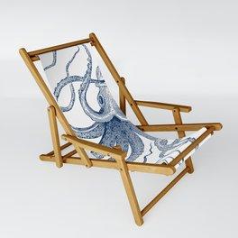 Blue nautical vintage octopus illustration Sling Chair