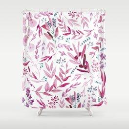 Eucalyptus Pink Shower Curtain