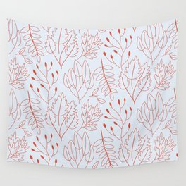 Plant leaf pattern Wall Tapestry