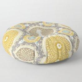 BLUE WEIMARANER & AMBER MEDALLIONS Floor Pillow