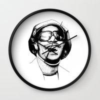 stevie nicks Wall Clocks featuring Stevie by Danny PiG