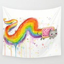 Rainbow Cat in Pop Tart Wall Tapestry