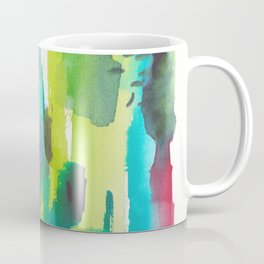180812 Abstract Watercolour Expressionism 11| Colorful Abstract | Modern Watercolor Art Coffee Mug