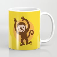 monkey island Mugs featuring Monkey by BATKEI