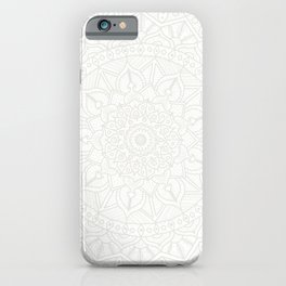 Cream on White Mandala Circle of Life iPhone Case
