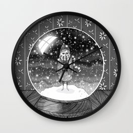 The Girl in the Snow Globe Wall Clock