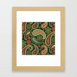 Christmas Paisley Framed Art Print