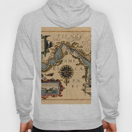 Map Of The Strait Of Magellan 1611 Hoody