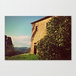 Tuscany Italy Countryside With Villa Canvas Print